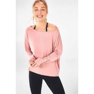 Fabletics Mauve Pink Long Sleeve Top XL